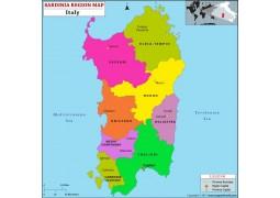 Sardinia Region Map