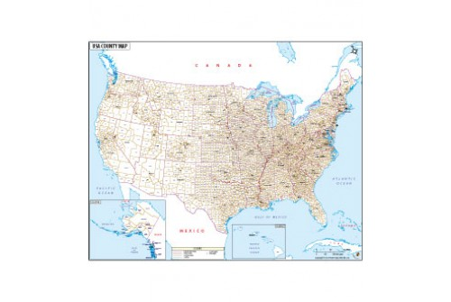 USA with County Names