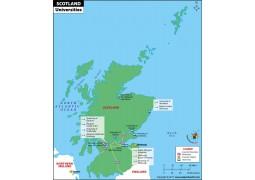 Scotland Universities Map