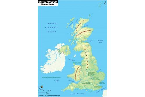 UK Theme Parks Map