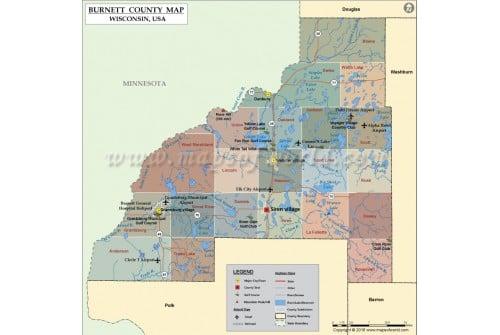 Burnett County Map
