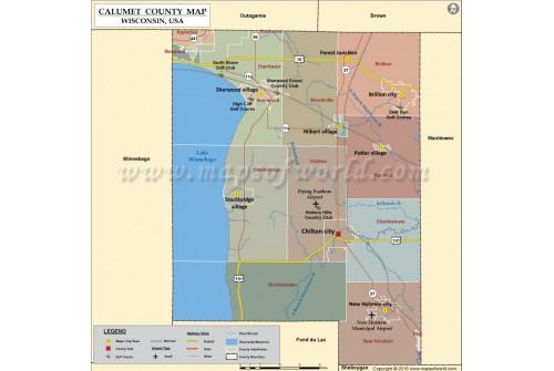 Calumet County Map