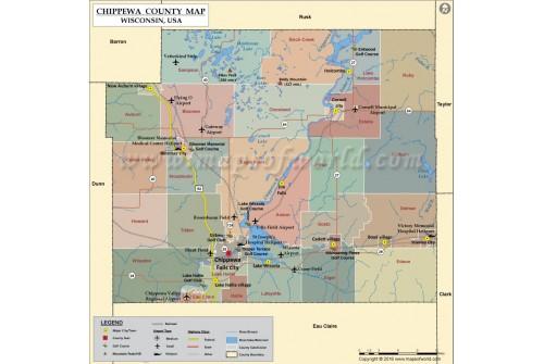 Chippewa County Map