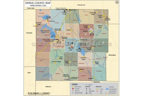 Dodge County Map