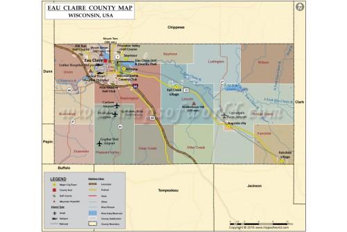 Eau Claire County Map