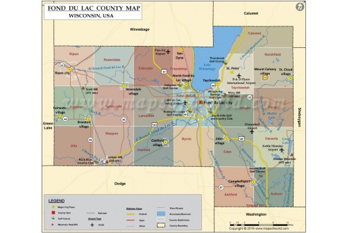 Fond Du Ac County Map