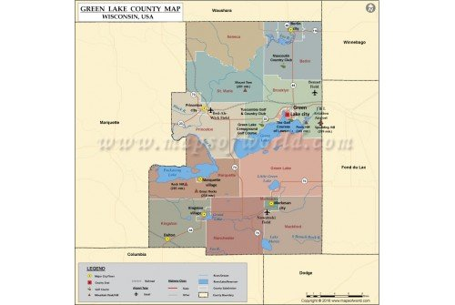 Green Lake County Map