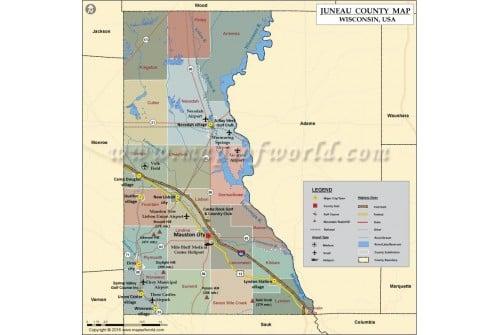 Juneau County Map