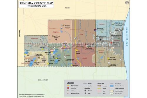 Kenosha County Map
