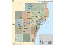 Manitowoc County Map - Digital File