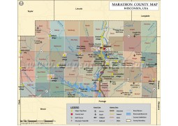 Marathon County Map