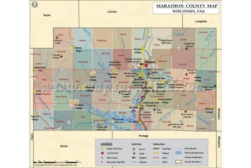 Marathon County Map