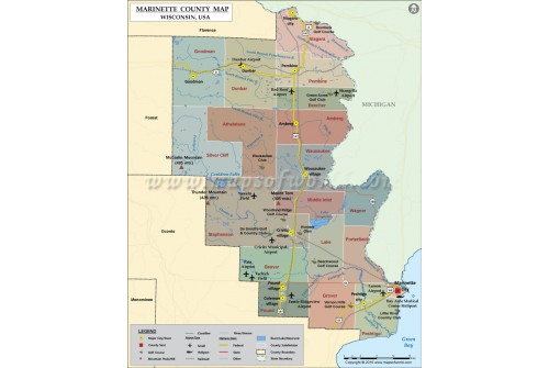 Marinette County Map