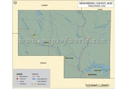 Menominee County Map