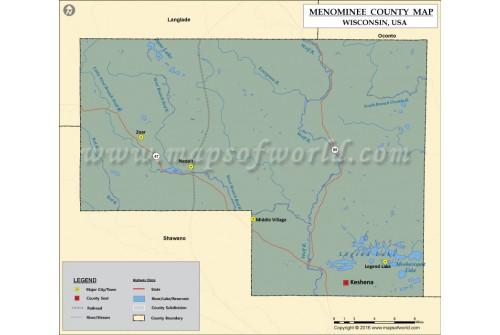 Menominee County Map