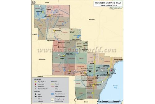 Oconto County Map