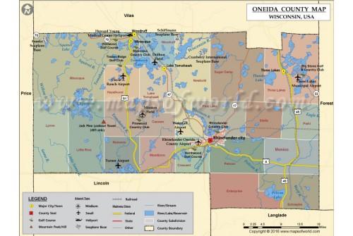 Oneida County Map
