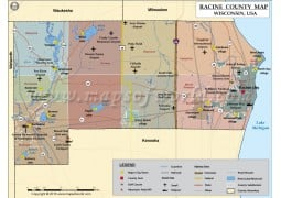 Racine County Map - Digital File