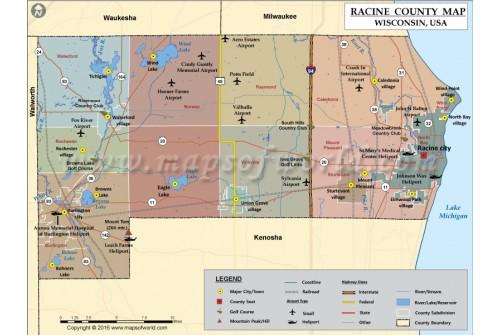 Racine County Map