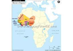 Western Africa Region Map - Digital File