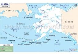 Alaska River Map - Digital File