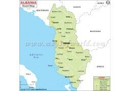 Albania Road Map - Digital File
