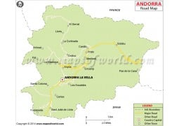 Andorra Road Map - Digital File