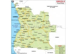 Angola Road Map - Digital File