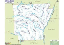 Arkansas River Map - Digital File