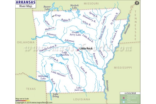 Arkansas River Map