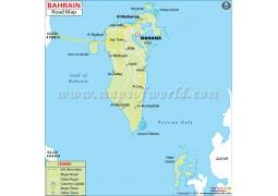 Bahrain Road Map - Digital File