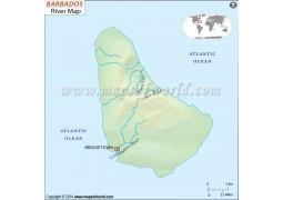 Barbados River Map - Digital File