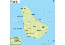 Barbados Road Map - Digital File