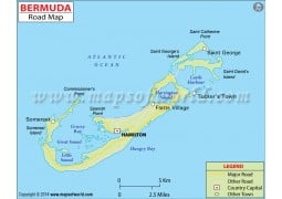 Bermuda Road Map - Digital File