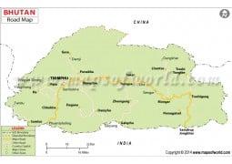 Bhutan Road Map - Digital File