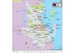 Brisbane Map - Digital File