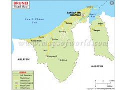 Brunei Road Map - Digital File