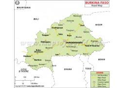 Burkina Faso Road Map - Digital File