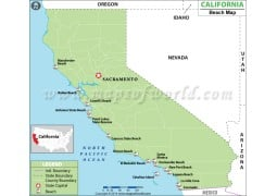 California Beach Map - Digital File