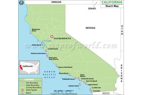 California Beach Map