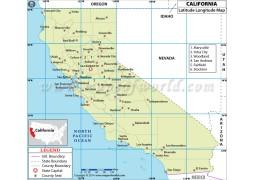 California Latitude Longitude Map