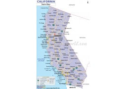 California State Map - Digital File
