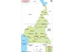 Cameroon Road Map - Digital File