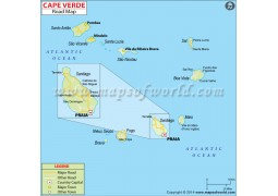 Cape Verde Road Map - Digital File