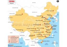 China Airport Map - Digital File