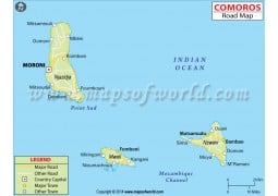 Comoros Road Map - Digital File