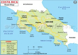 Costa Rica Road Map