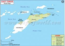 East Timor Road Map - Digital File