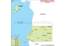 Equatorial Guinea Road Map - Digital File