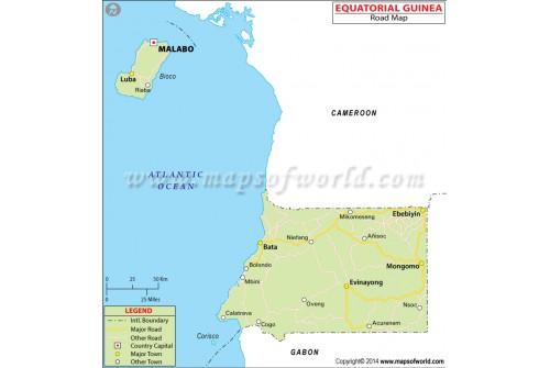 Equatorial Guinea Road Map